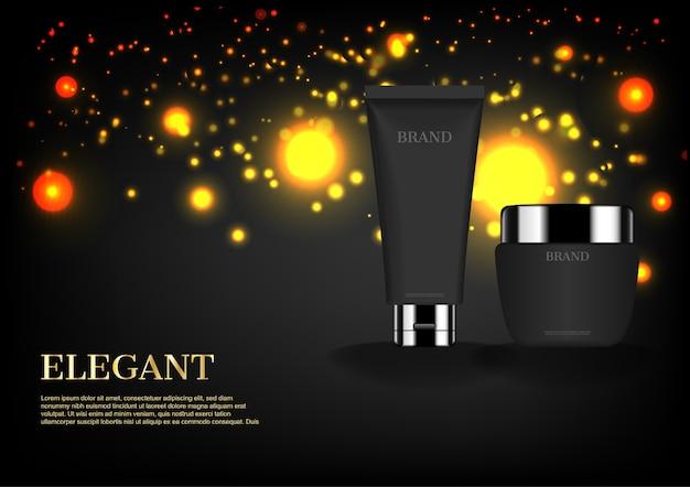 Zwarte cosmetica set