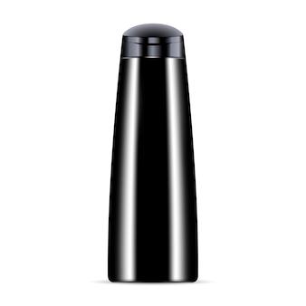 Zwarte cosmetische fles voor shampoo