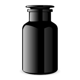 Zwarte cosmetische fles