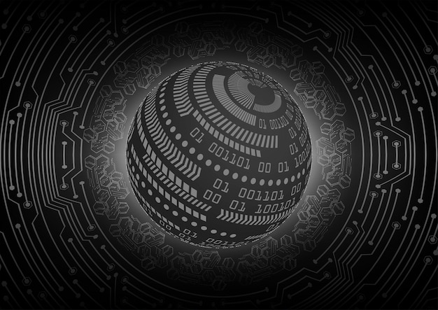 Zwarte cyber circuit toekomstige technologie concept achtergrond