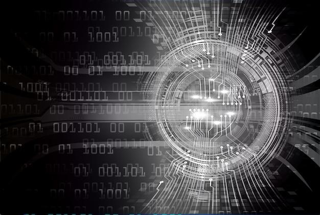 Zwarte cyber kring toekomstige technologie concept achtergrond