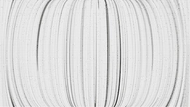 Zwarte cyberlijnen op witte technische achtergrond, komisch en bewegingsconceptontwerp, vector.