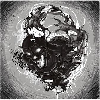Zwarte demoon.