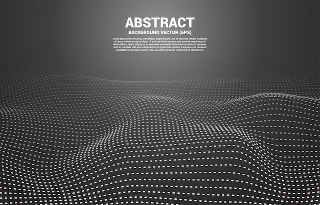 Zwarte digitale contourcurve stip en lijn en golf met draadframe. abstracte achtergrond voor 3d-futuristisch technologieconcept