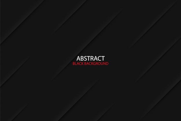 Zwarte donkere abstracte geometrische achtergrond met schaduweffect