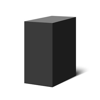 Zwarte doos. pakket. illustratie.