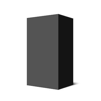 Zwarte doos. pakket. voetstuk. .