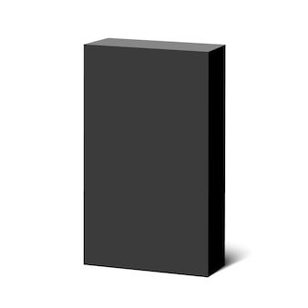 Zwarte doos. pakket. .