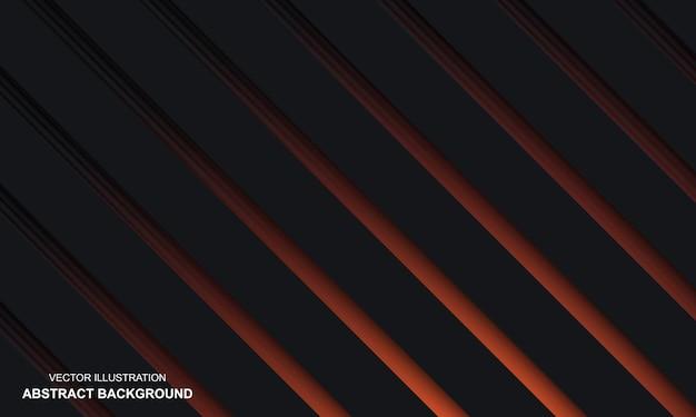 Zwarte dop abstracte achtergrond met oranje concept