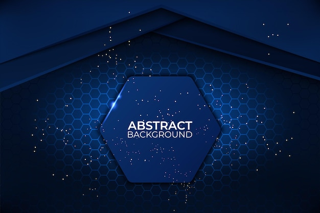 Zwarte en blauwe abstracte achtergrond technologie zakelijke ontwerpsjabloon