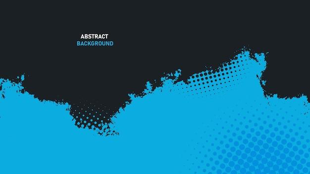 Zwarte en blauwe abstracte grunge textuur achtergrond