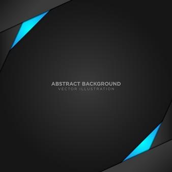 Zwarte en blauwe achtergrond
