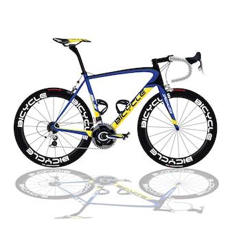 Zwarte en blauwe fiets
