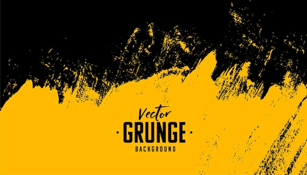 Zwarte en gele abstracte vuile grungeachtergrond