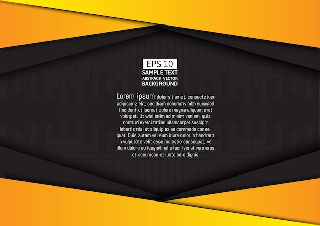 Zwarte en gele geometrische vector achtergrond
