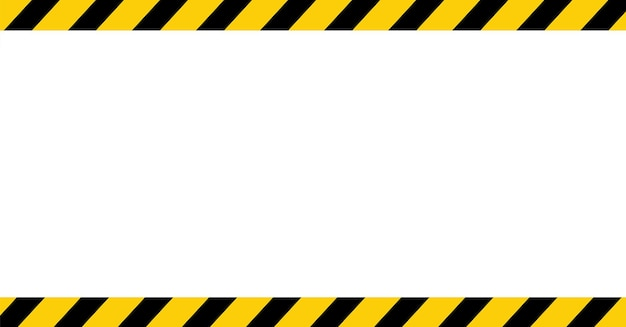 Zwarte en gele lijn gestreepte lege waarschuwingsachtergrond