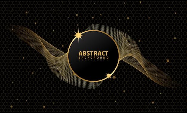 Zwarte en gouden abstracte achtergrond