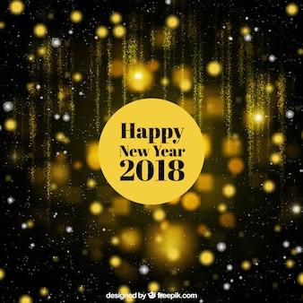 Zwarte en gouden gelukkige nieuwe jaar achtergrond
