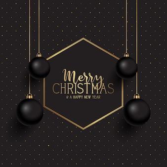 Zwarte en gouden kerst
