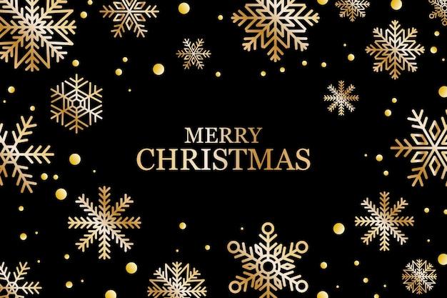 Zwarte en gouden luxe merry christmas wenskaart en beste wensen