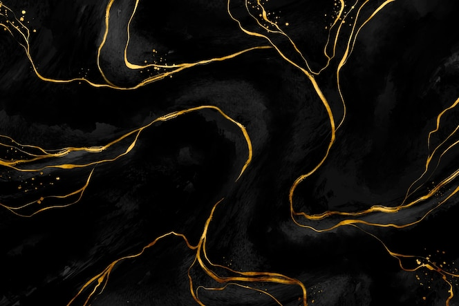 Zwarte en gouden marmeren achtergrond