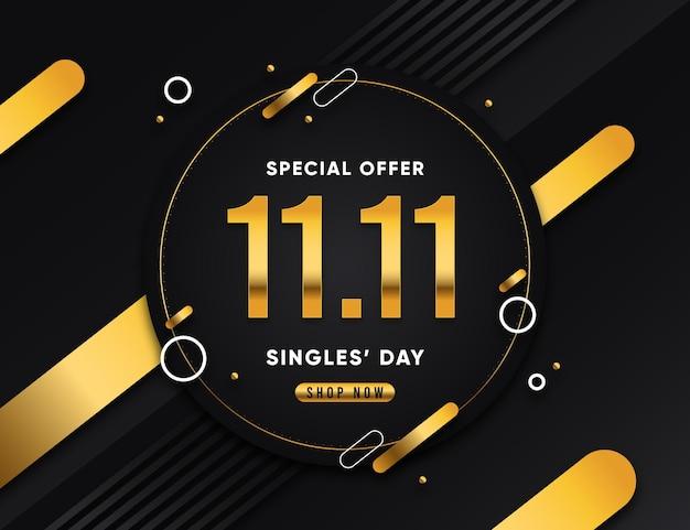 Zwarte en gouden singles dag