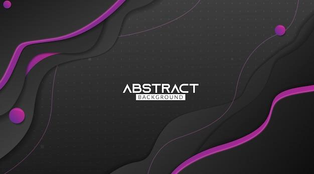 Zwarte en paarse golvende abstracte achtergrond