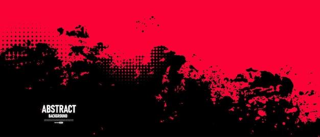 Zwarte en rode abstracte grungeachtergrond