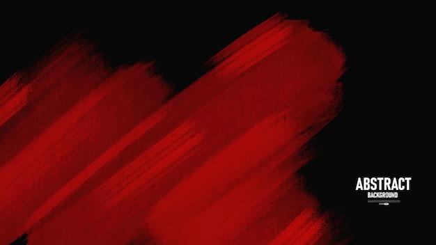 Zwarte en rode aquarel textuur achtergrond