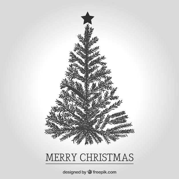 Zwarte en witte kerst groeten