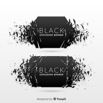 Zwarte explosiebanner