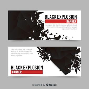 Zwarte explosiebanners