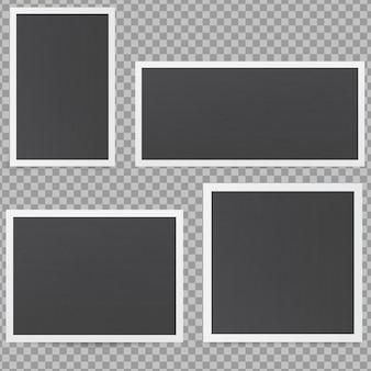 Zwarte fotolijsten.