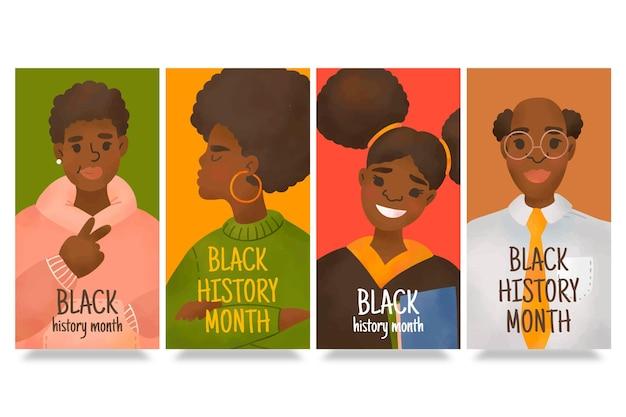 Zwarte geschiedenis maand instagram verhalen