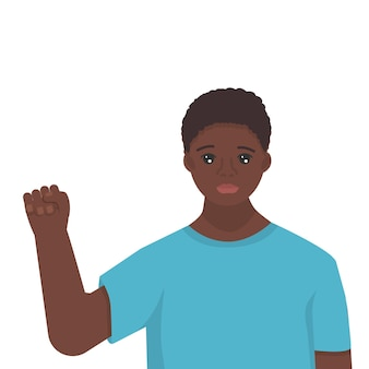 Zwarte geschiedenismaandviering leuke afrikaanse jongeman