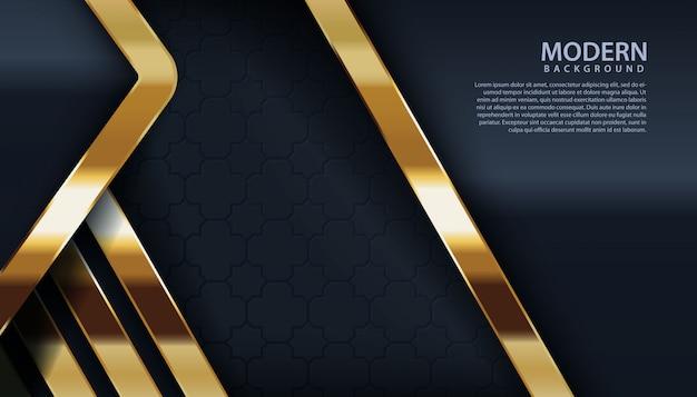 Zwarte gestructureerde achtergrond met gouden lijneffect