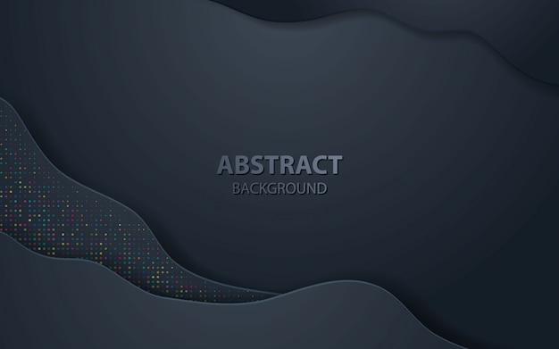 Zwarte golf abstracte realistische decoratie