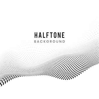 Zwarte golvende halftone op witte vector als achtergrond