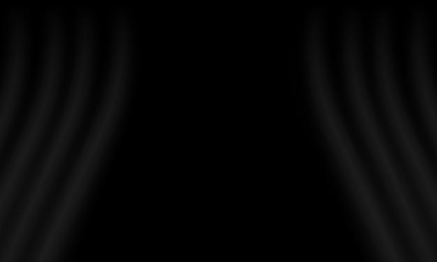 Zwarte gordijnachtergrond. beste slimme ontwerp voor uw bedrijf.