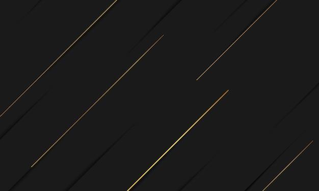 Zwarte gouden achtergrond overlappende afmeting abstracte geometrische modern