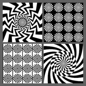 Zwarte grafische geometrische elementen