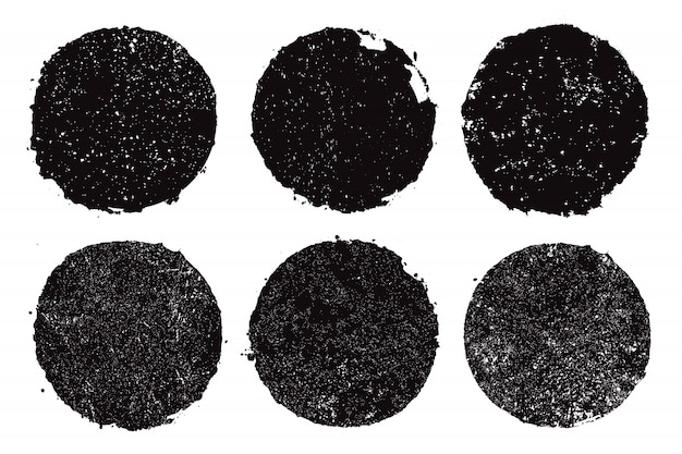 Zwarte grunge ronde frames
