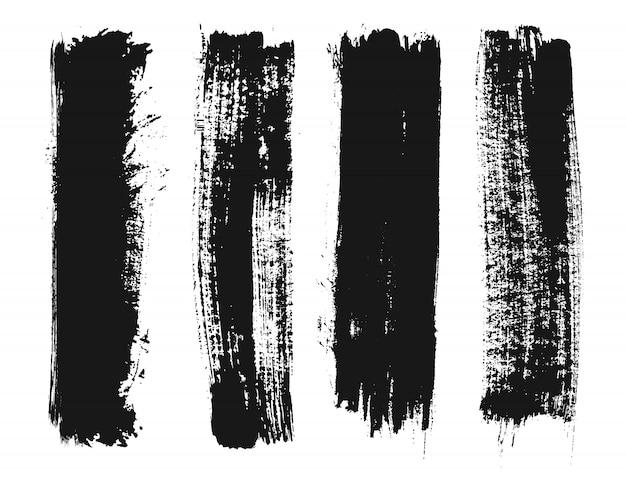 Zwarte grunge verf lijnen