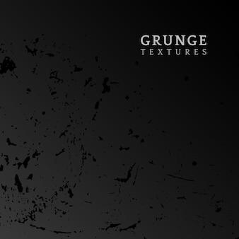 Zwarte grunge verontruste textuurvector