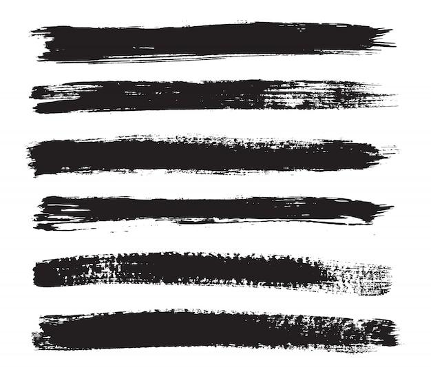 Zwarte grungeborstels