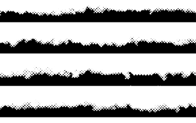 Zwarte halftone randen