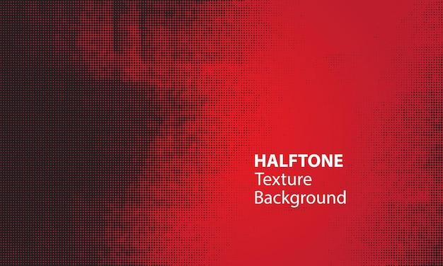 Zwarte halftone textuur met rode achtergrond