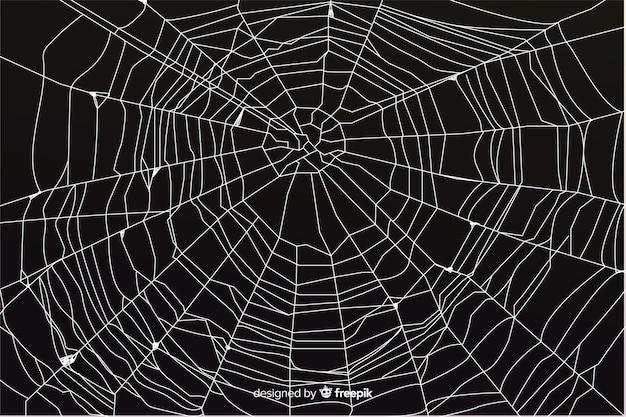 Zwarte halloween coweb achtergrond