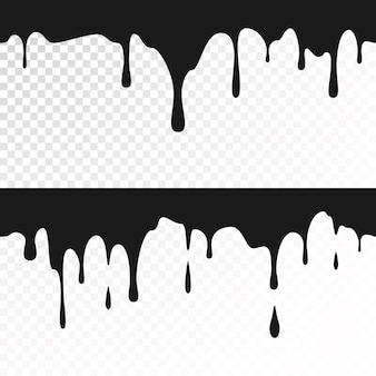 Zwarte inkt druipt illustratie
