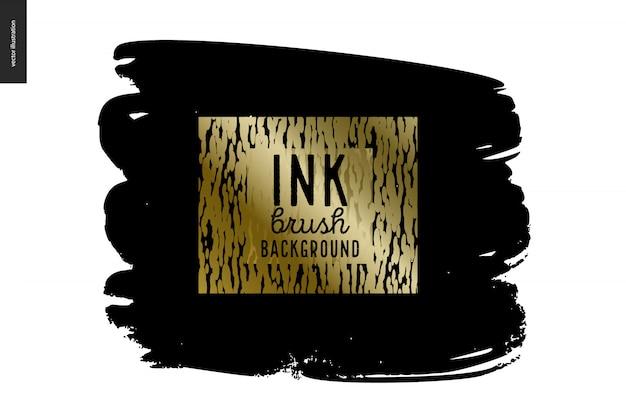 Zwarte inkt penseel achtergrond